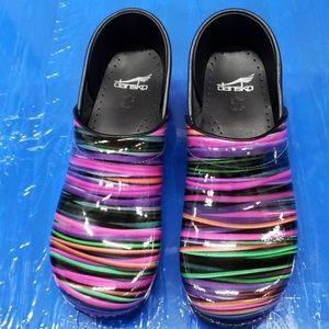 Dansko wired multicolor comfort shoes clogs sz 40